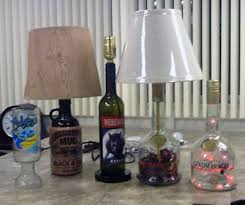 bottle lamps and shot glasses how to make a bottle lamp