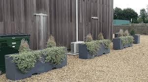 concrete planters concrete planters polysafe