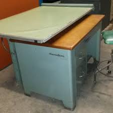 Steel Drafting Table 1950 S Hamilton Drafting Table Hydraulic Tilt Top Lift
