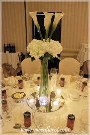 hydrangea centerpieces centerpiece with calla lilies and hydrangea montreal west island