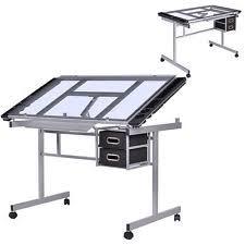 Glass Drafting Tables Glass Drafting Tables Furniture Ebay