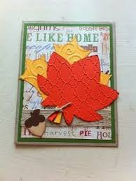 thanksgiving card i use a cricut cartdrige create a critter fall