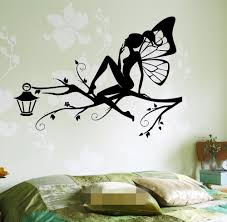 online buy wholesale wall stencils tree from china wall stencils free shipping fairy on the tree branch for kids bedroom wall art decal sticker removable vinyl