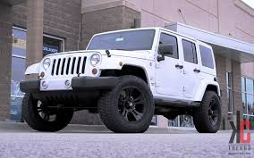 white jeep black rims lifted kc trends showcase 20 xd crank with nitto grapplers on a