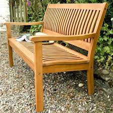 2 seater wooden bench seat garden patio back rest wood