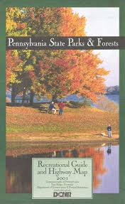 Pennsylvania State Parks Map by 1990 U0027s Pennsylvania State Road Maps