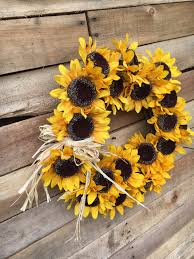 sunflower mesh wreath wreath fall wreath sunflower wreath fall sunflower wreath door