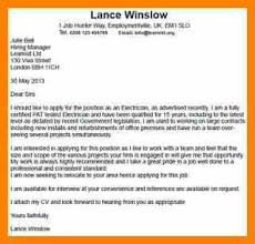cover letter example electrician