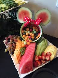 Fruit Decoration Ideas For Baby Shower Minnie Mouse Birthday Party Ideas Minnie Mouse Mice And Salad