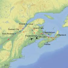 Moncton Canada Map by Canada U0027s Maritimes U2013 10 Or 15 Days Denure Tours