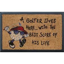 Coir And Rubber Doormat Rubber And Coir Golfer Lives Here Door Mat Temple U0026 Webster
