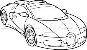ferrari sketch side view how to draw a bugatti veyron step by step cars draw cars online