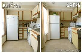 How To Paint New Kitchen Cabinets Simple Kitchen Makeovers Before And After Small Cabinet Ideas