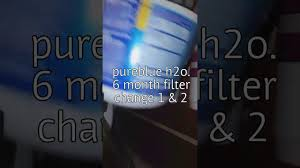 pure blue h2o red light how to change pureblue h2o filters 1 2 youtube