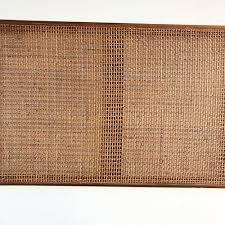 george nelson for herman miller 1950s walnut u0026 cane headboard