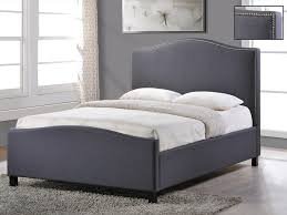 living tuxford king size grey fabric bed frame