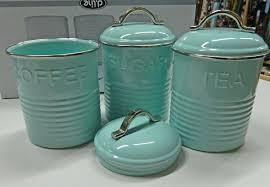 blue and white kitchen canisters aqua kitchen canisters canister set turquoise set of three aqua