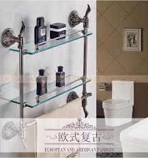 antique glass shelf double bathroom shelf shelves bathroom