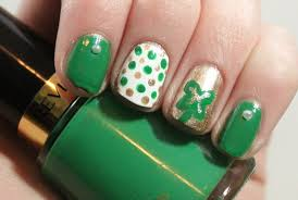nail art four leaf clover nail salon middle villagefour