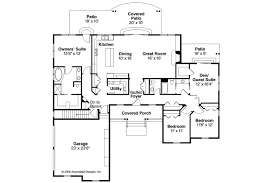 One Story Ranch House Plans by Ranch House Plans Heartville 10 560 Associated Designs