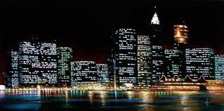 new york painting new york city skyline 2 by thomas kolendra