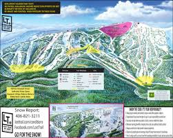 Map Of Usa Mountains by Lost Trail Powder Mountain Piste Maps