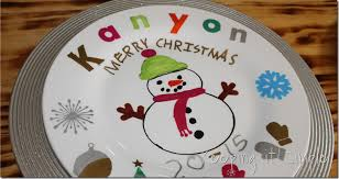 personalized dinner plate christmas family tradition diy personalized christmas dinner
