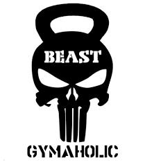 gymaholic punisher skull kettle bell fitness gym exercise cross
