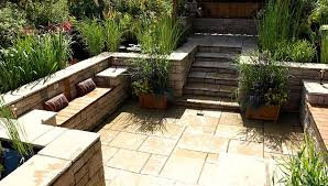 Garden And Patio Designs Garden Patio Designs Outdoor With Exposed Tiles