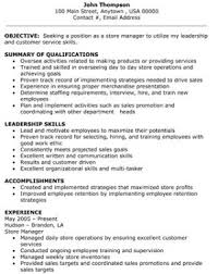 resume qualifications retail store manager resume objective summary of qualifications