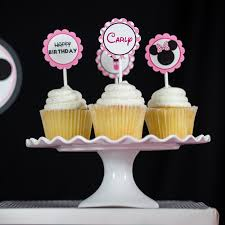 minnie mouse cupcakes minnie mouse party cupcake topper 505 design inc