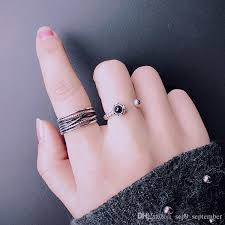 midi ring set midi rings 2017 new arrival set vintage black stacking midi