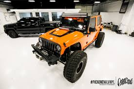matte orange jeep 5 different wraps 1 jeep wrangler whats your favorite