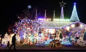 houses with christmas lights near me 2017 greeley christmas lights neighborhood embraces traffic and