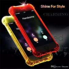 call lightning flash led light up tpu ultra thin slim clear