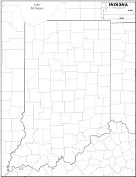 Michigan Map Outline by Free Map Of Indiana