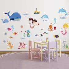 Wall Art Stickers by Mermaids Decorative Peel U0026 Stick Wall Art Sticker Decals For Kids