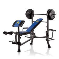 Weight Benches At Walmart Marcy Standard Bench W 80lb Weight Set Mwb 36780b Walmart Com