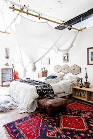 bedroom in apartment with bohemian decor bohemian decorating