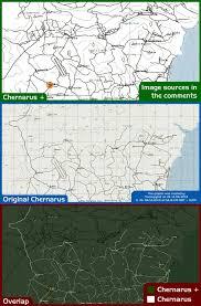 Map Of Chernarus Dayz North Chernarus Map Comparison Dayz