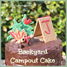 backyard campout birthday cake 3 little greenwoods