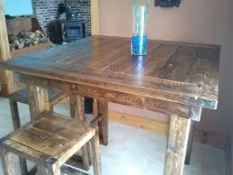 high top pub table set wood bar table reclaimed dark breakfast top live edge ana white pub