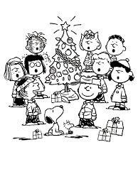 charlie brown snoopy christmas coloring charlie brown