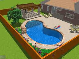 luxury backyard swimming pool design with additional interior