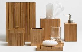 shining design bamboo bathroom set dixon bath accessories crate