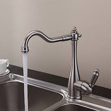 brushed nickel faucets kitchen vintage style nickel brushed curve design kitchen faucet f0797n