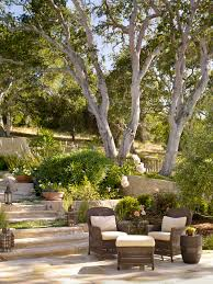 cottage style backyards creative idea backyard design with dark brown tuscan style