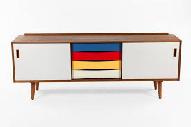 mid century console table colored mid century credenza modern furniture brickell collection
