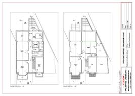 house plan examples architectural plans loft conversion house extension uk basement 03