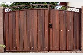 iron u0026 wood gate examples sun king fencing u0026 gates